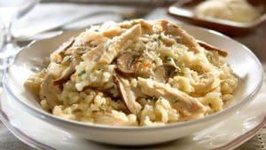 Risotto au poulet et champignons - Idées recettes