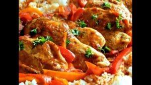 Poulet basquaise au riz
