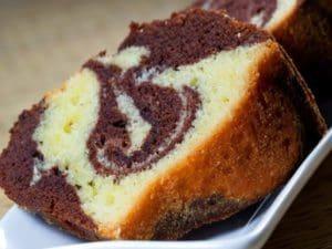 Gâteau marbré sans œuf